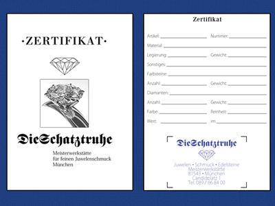 Zertifikate mit Fotos